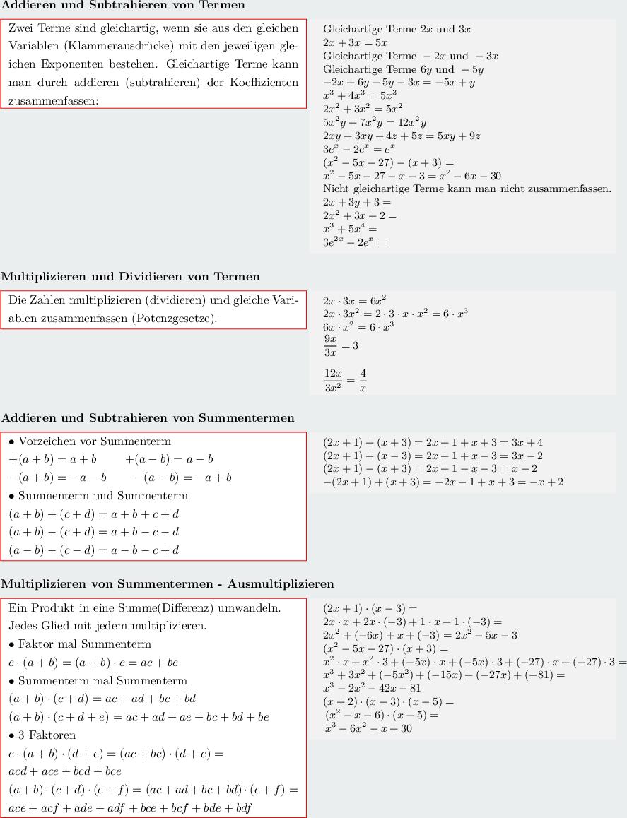 Algebra,Terme,Umformung von Termen